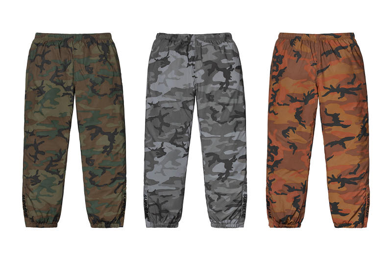 Supreme Fall/Winter 2018 Pants Trousers Sweatpants Camo Jeans Denim Track Split Jewel Newspaper Jesus Mary Shorts Release Details Information First Look News