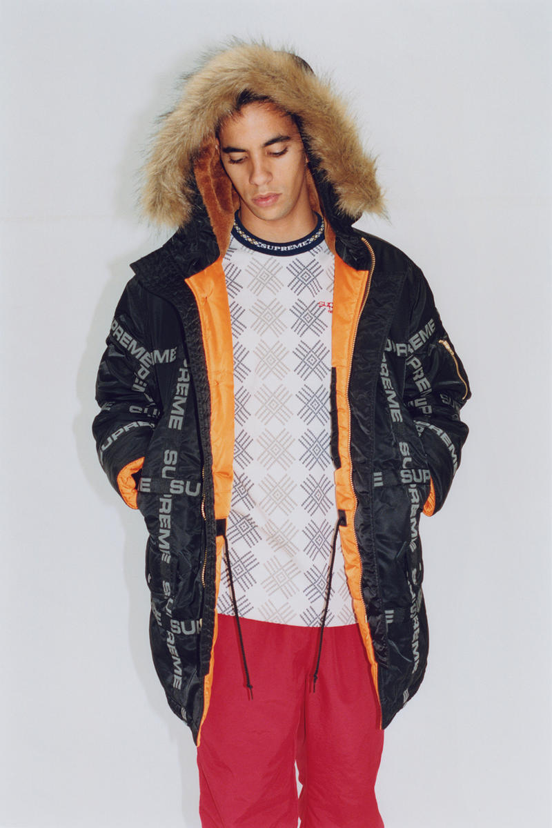 Supreme Fall/Winter 2018 Editorial Shoot Taped Seam N-3B Parka Jacket