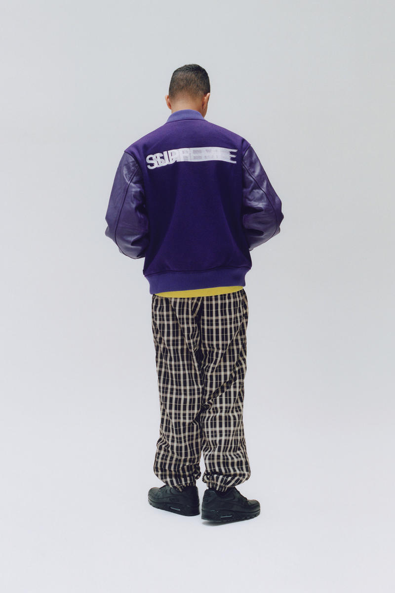 Supreme Fall/Winter 2018 Editorial Shoot Motion Logo Varsity Jacket