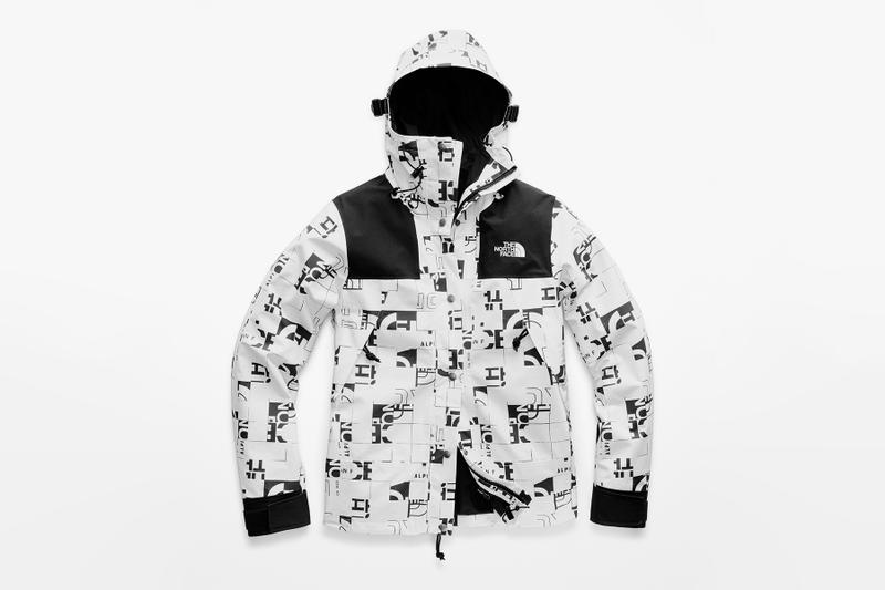 The North Face broken grid capsule collection drop release fall winter 2018 nupste vest jacket parka hooded cap new era 59 50 fifty nine fifty retro vintage graphics print all over outerwear limited