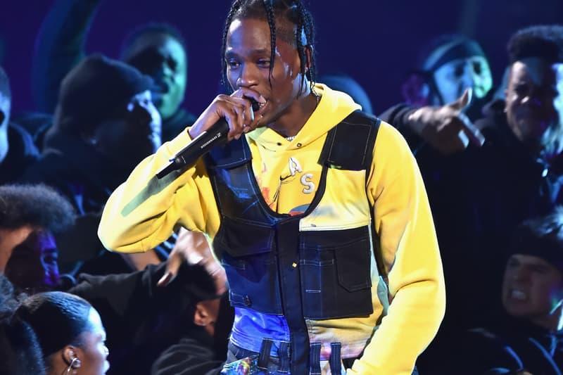 "Travis Scott 'ASTROWORLD' Performance 2018 VMAs medley mtv video music awards james blake live on stage ""Stargazing"" ""Sicko Mode"" ""Stop Trying to be God"" kylie jenner stormi"