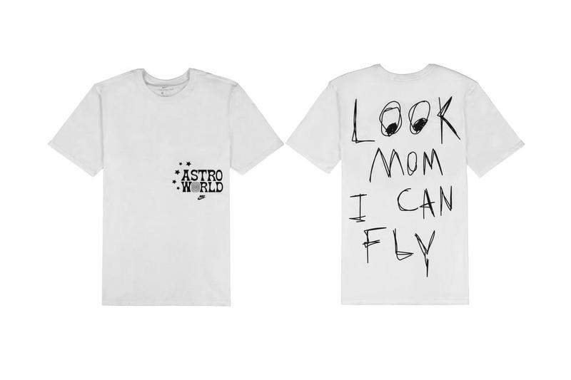 nike travis scott astroworld air force 1 sail look mom i can fly album lp t-shirt t shirt tee top white black swoosh