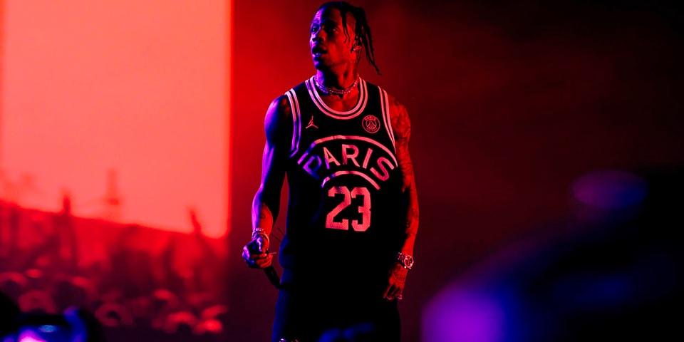 367d6a68741d Travis Scott Debuts Paris Saint-Germain x Jordan Basketball Jersey |  HYPEBEAST