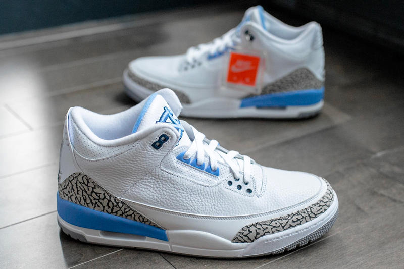 UNC Football Players Selling Jordan PE Suspension NCAA Air Jordan 3