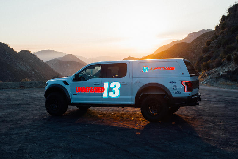 UNDEFEATED Gumball 3000 apparel collection collaboration ford f-150 raptor rally race london tokyo