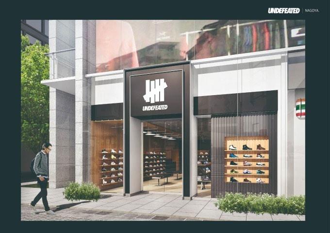 UNDEFEATED Nagoya Sakae Japan Store shop space outpost Opening date new sneaker footwear clothing