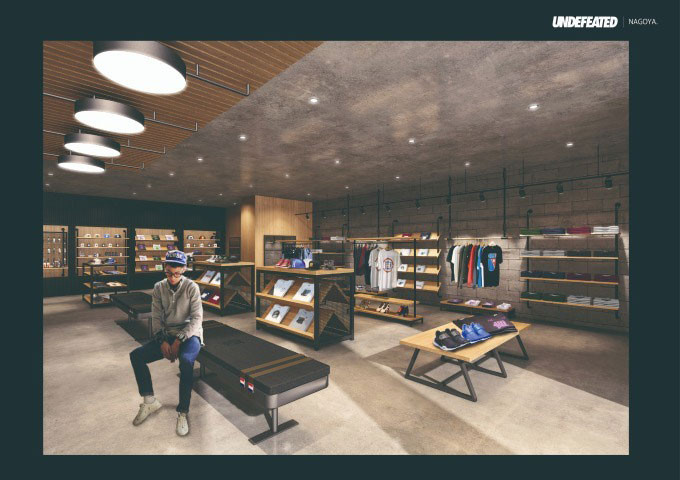 UNDEFEATED Nagoya Sakae Japan Store shop space outpost Opening date new sneaker footwear clothing