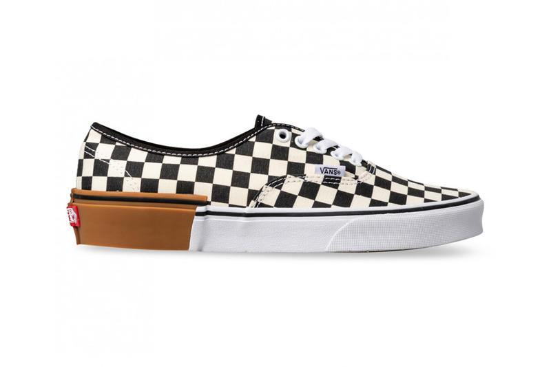 a8192d0d82 Vans Checkerboard Old Skool Authentic Gum Sole mashup white rubber sneaker  price purchase release