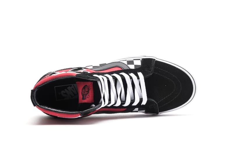 """Vans Sk8-Hi """"Japanese Type"""" Release red white black colorway sneaker reissue"""