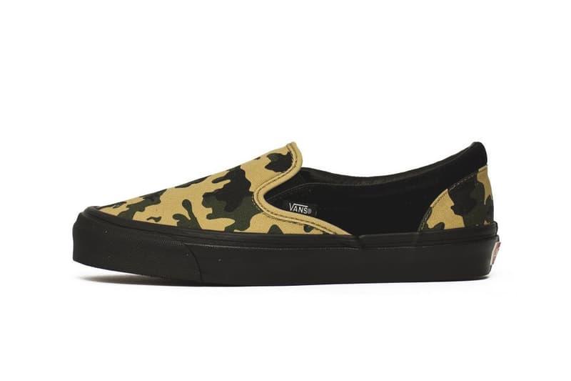 Vans Vault Black Camo Pack Release suede canvas Green Yellow sneakers