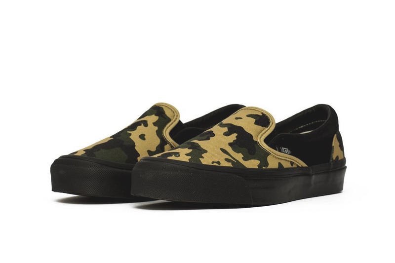 Vans Vault Black Camo Pack Release suede canvas Green Yellow sneakers