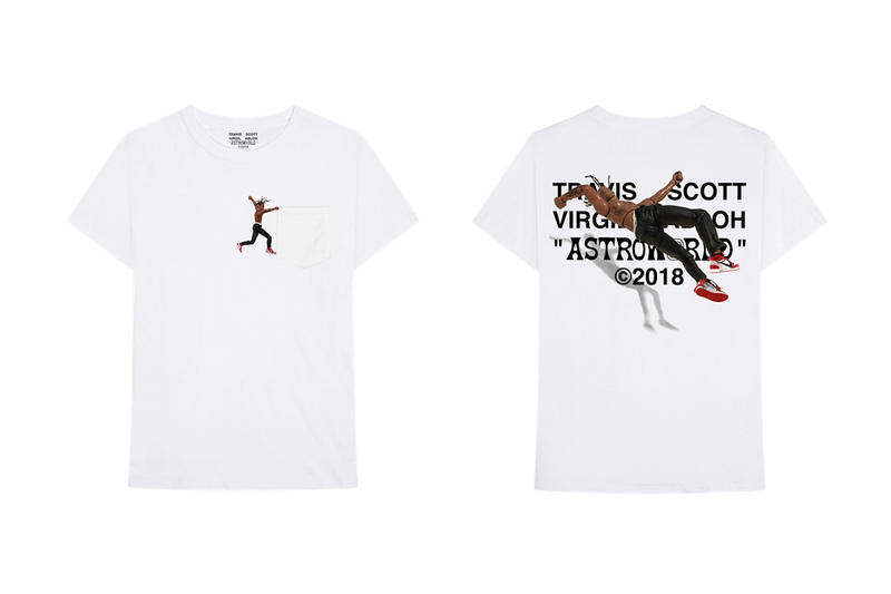 Virgil Abloh x Travis Scott Astroworld Merch Tee White Action Figure Jordan IV Air 1 85 red