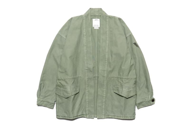 visvim Long Staple Cotton Sanjuro Benny Jacket Military Green Olive Khaki