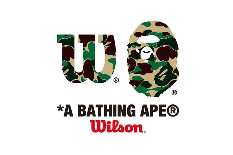 wilson tennis a bathing ape bape new collaboration 2018 collection