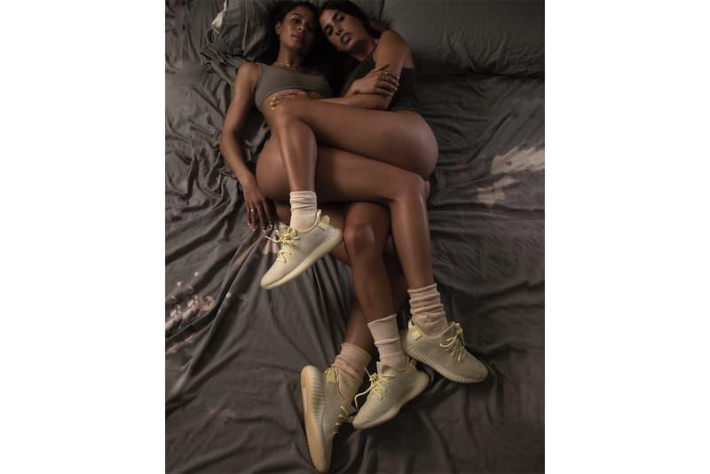 YEEZY Campaign Kim Kardashian West Brad Hall Teaser Richard Kern Photography Ibn Jasper 350 BOOST V2 Butter Imagery Kanye West Sneaker Footwear