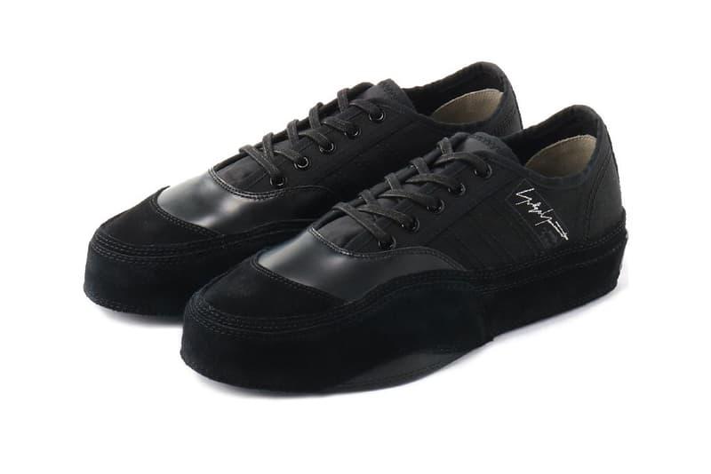Yohji Yamamoto adidas fw18 matchcourt low Japan sneaker shoes footwear mainline collection fall winter 2018 tan beige black leather suede august 23 runway