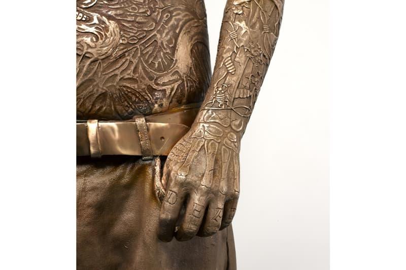 zombie boy rick genest marc quinn bronze sculpture artwork science museum london