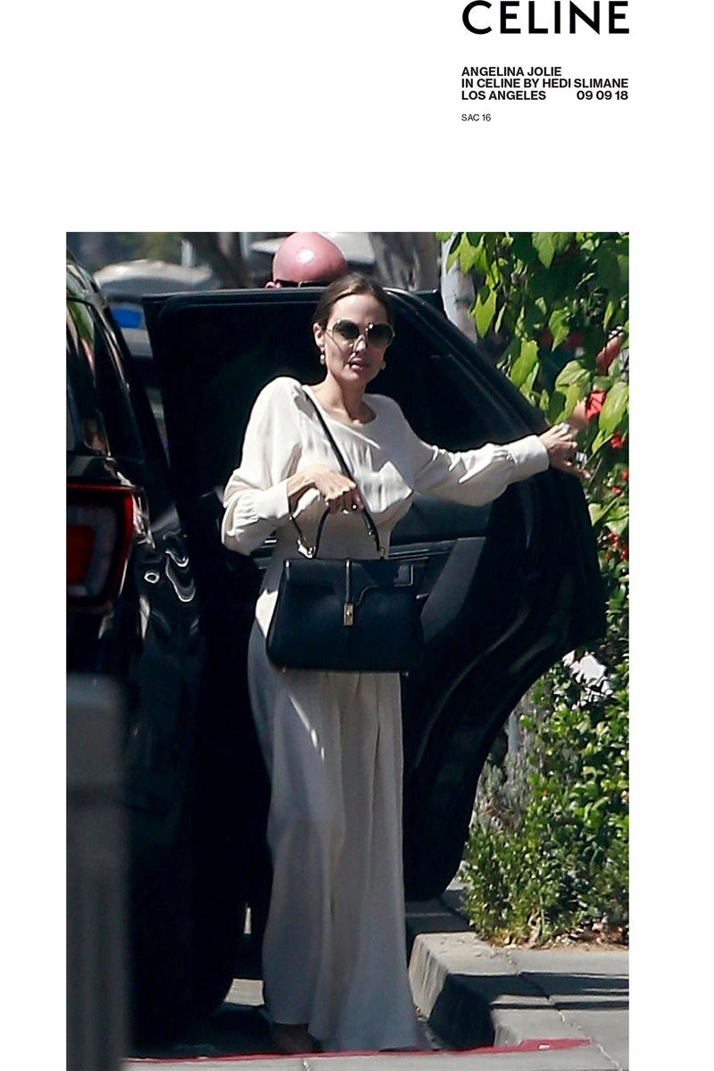 e67545854479 CELINE angelina jolie lady gaga handbag le 16 purse leather satchel bag  november 2018 debut premiere