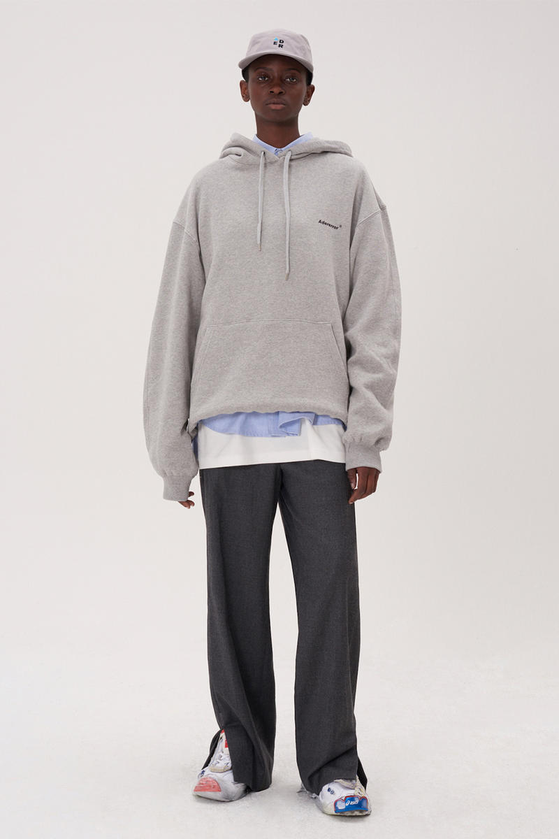 ADER error Fall Winter 2018 A WEB SPACE collection Lookbook Windows Logo hats sweaters jackets accessories scarves trousers