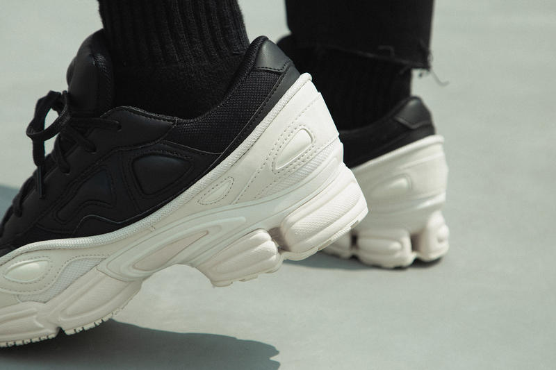 adidas by raf simons ozweego on foot look hbx black white