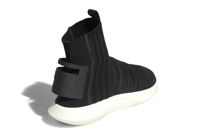 adidas crazy 1 adv primeknit sock core black white 2018 october footwear