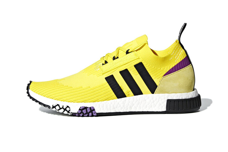 sports shoes a4106 a14f0 adidas Debuts NMD Racer in Unofficial Lakers Colorway