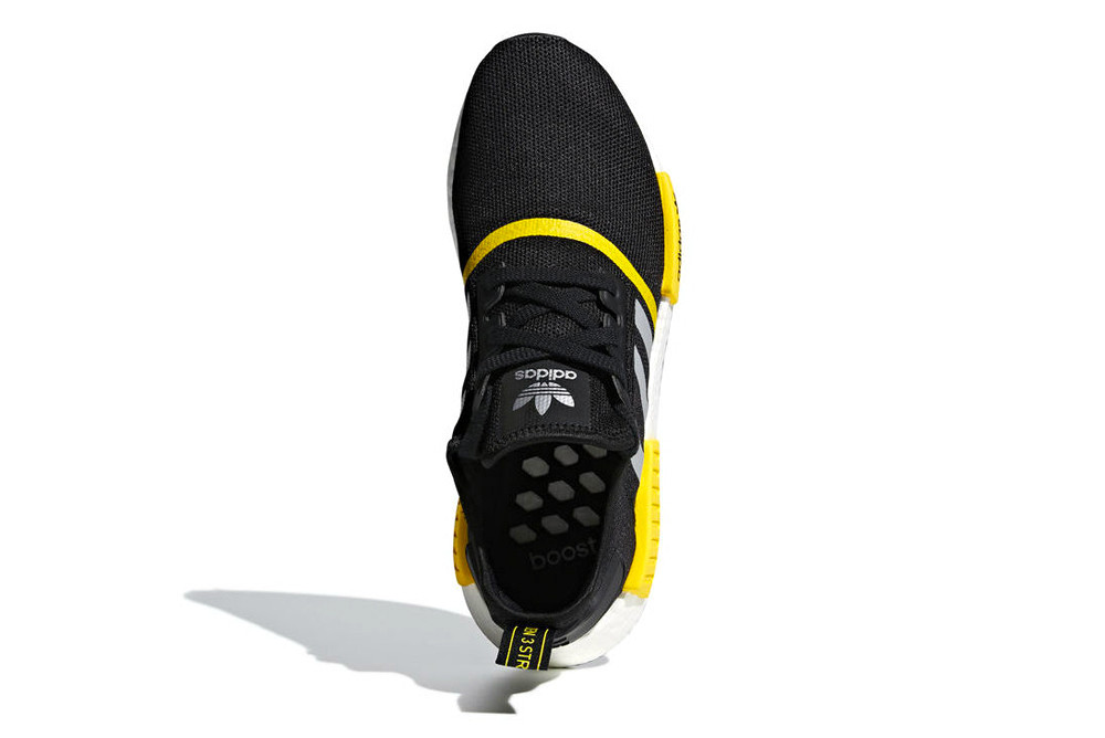 nmd r1 black and yellow