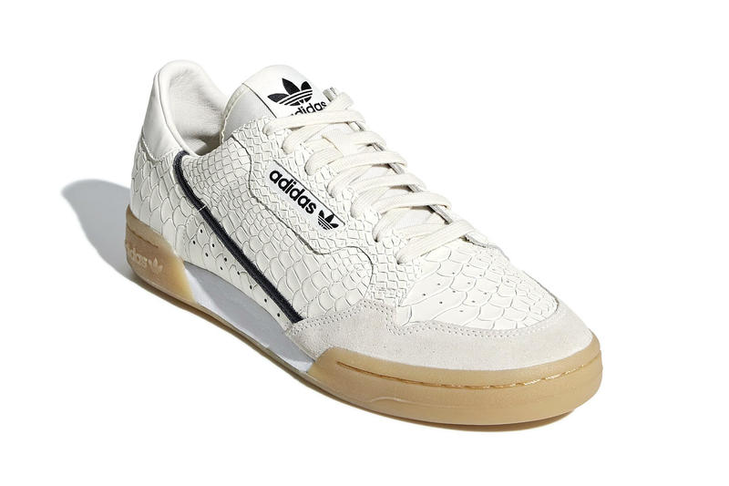 adidas Originals Continental 80 Rascal Snakeskin Black White Faux Leather Luxe Upgrade YEEZY Powerphase sneaker footwear trainer release information details