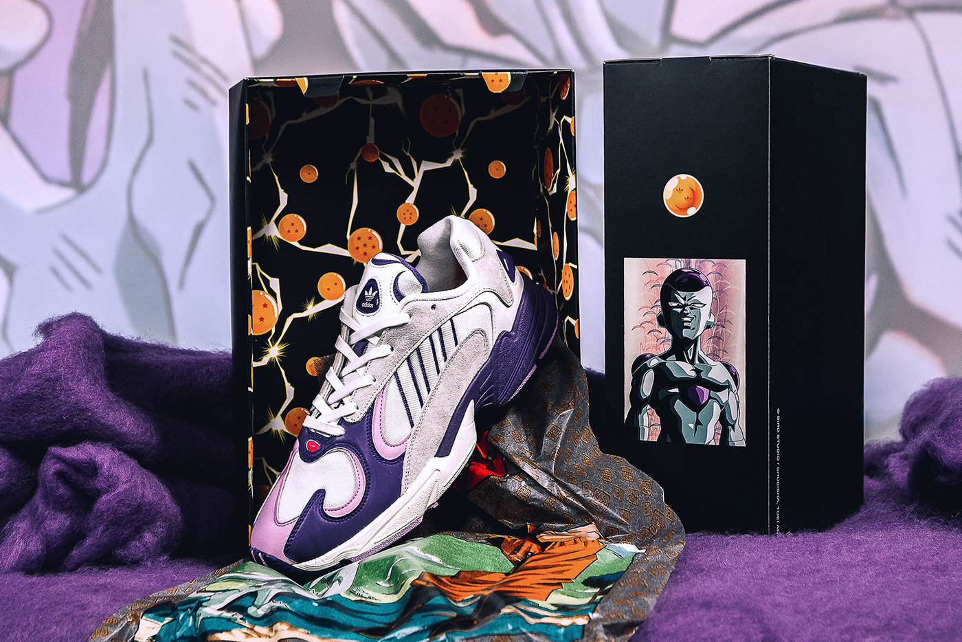 f63c1809e954 Frieza s YUNG 1 . TPU accents show off Frieza s colours and mimic his  glossy head. Built in supple leather