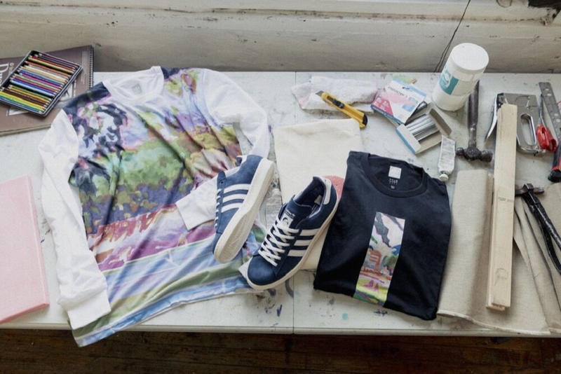 adidas skateboarding brian lotti campus 80s respect your roots sneakers shoes skating skate blue navy white 2018 september fall custom t shirts art artwork long short sleeve tees