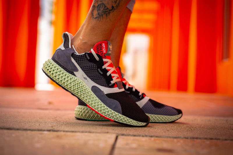 adidas torsion 4d 4000 zx first look sneaker shoe colorway red blue white black midsole on foot feet exclusive sample drop release date info sale sell buy yankeekicks