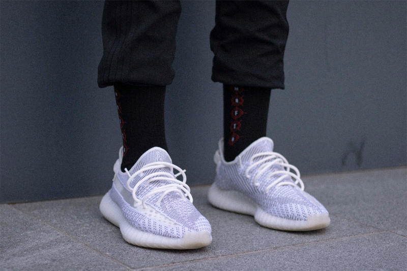 adidas YEEZY Boost 350 V2 Static Closer Look On Foot Purchase Buy Sneaker Kicks Trainers Shoes