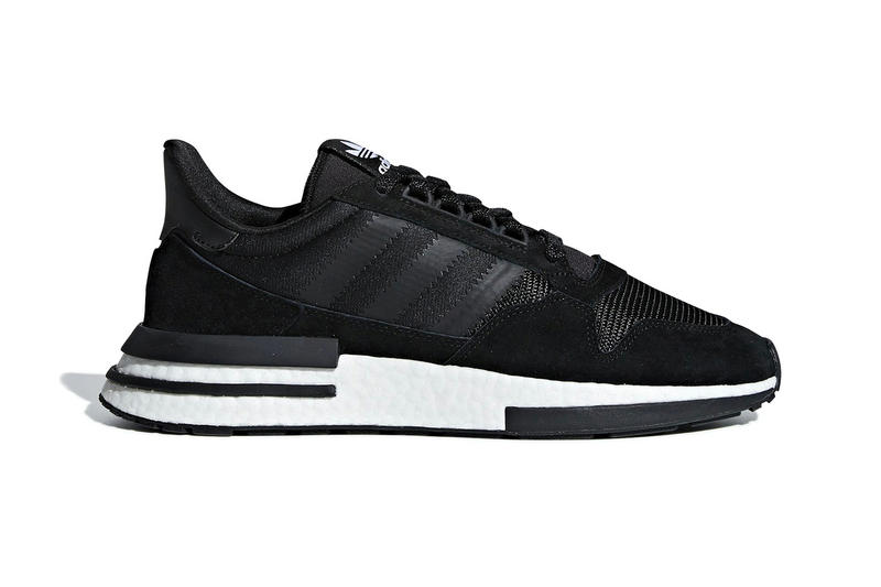 b6fe9254fa0b8 adidas ZX 500 RM Core Black Core White fall 2018 release sneakers leather  suede