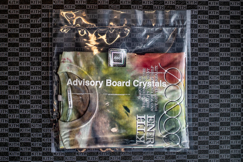 abc advisory board crystals kith energy is everything tie dye t shirt fashion 2018 september