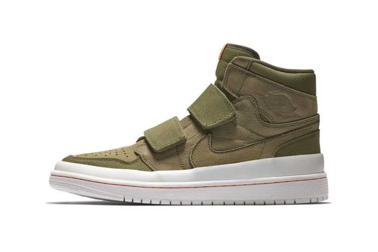 The New Air Jordan 1 High Double Strap Mixes Olive and Orange bf50fe97b7a0