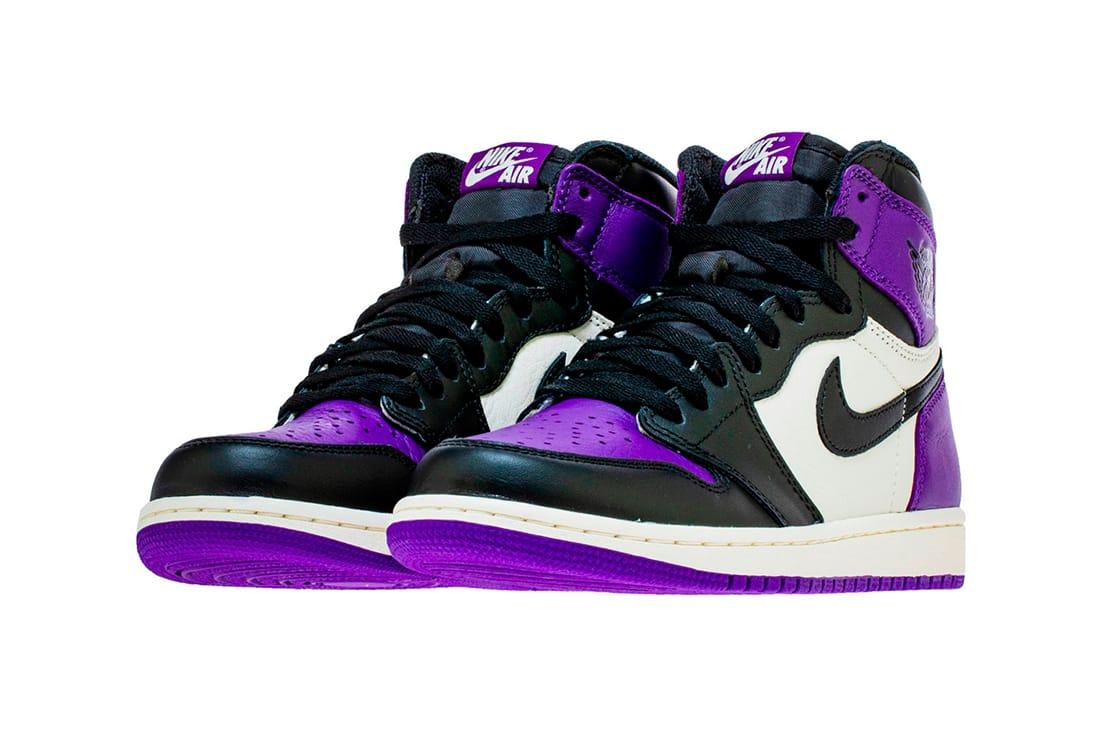 jordan retro 1 court purple