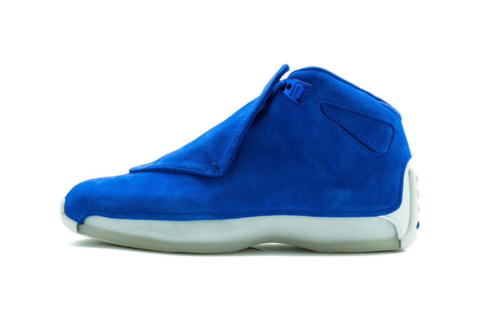 "The Air Jordan 18 ""Racer Blue"" Releases This Month"