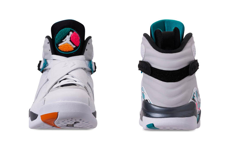 e405a0f663ca Air Jordan 8 South Beach release info jordan brand white grey orange teal  pink sneakers