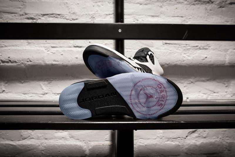 air jordan v 5 paris saint germain friends family black white sneakers 2018 september nike brand