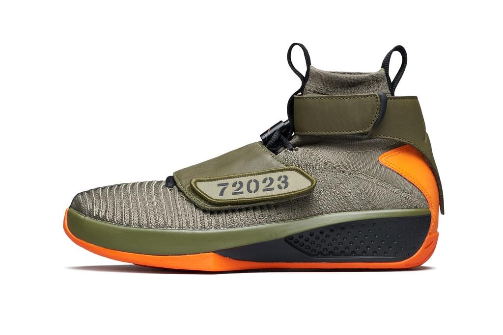 2ec3fc69dc4 Air Jordan XX Flyknit Black   Olive First Look