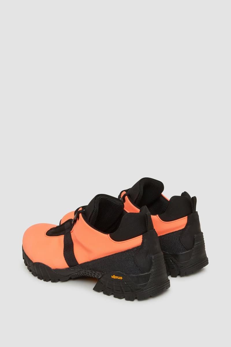 1017 ALYX 9SM ROA Low Hiking Boot Fall Winter 2018 Orange Black