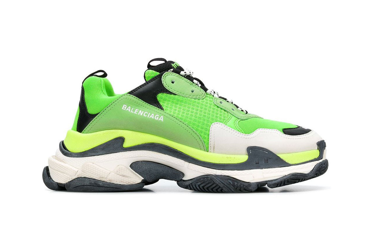Balenciaga Triple-S in Lime Green and