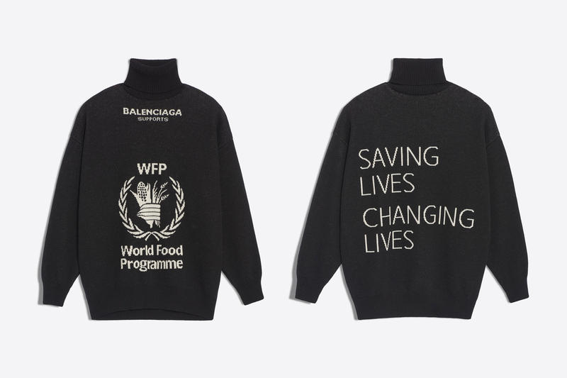 a4248718b235 Balenciaga The World Food Programme Capsule collection fall winter 2018  united nations release info