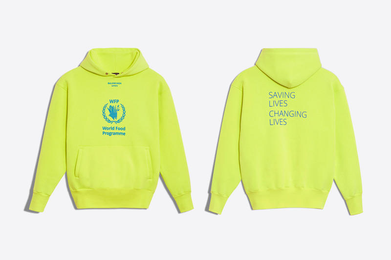 Balenciaga The World Food Programme Capsule collection fall winter 2018 united nations release info