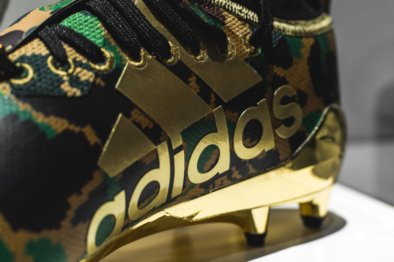 A Closer look at the BAPE x adidas Football Collection ultraboost adizero 5-Star camo ape head bape xxv exhibition japan tokyo