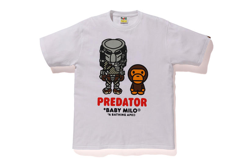 BAPE x Predator Collaboration fall winter 2018 a bathing ape white black shirts hoodies sweaters