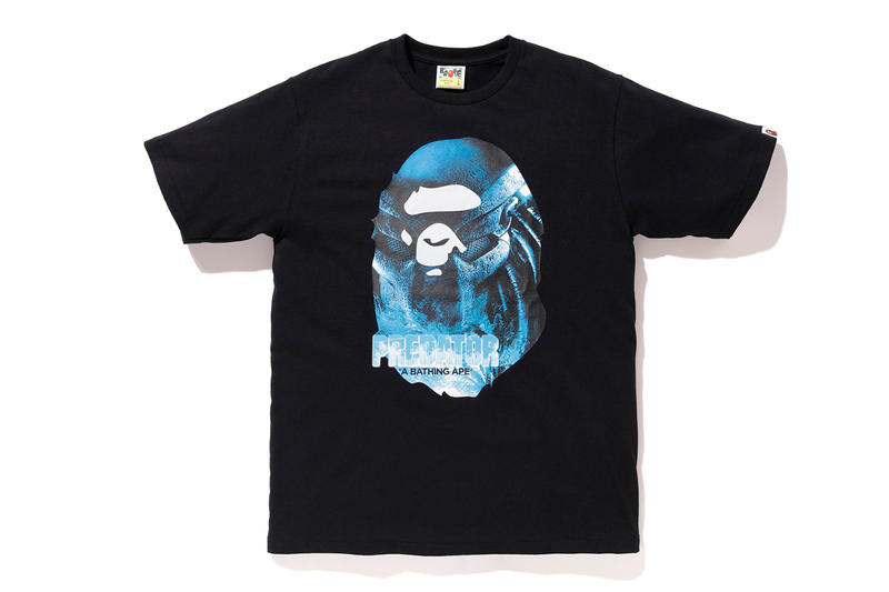 BAPE x Predator Collaboration fall winter 2018 a bathing ape white black shirts hoodies sweaters