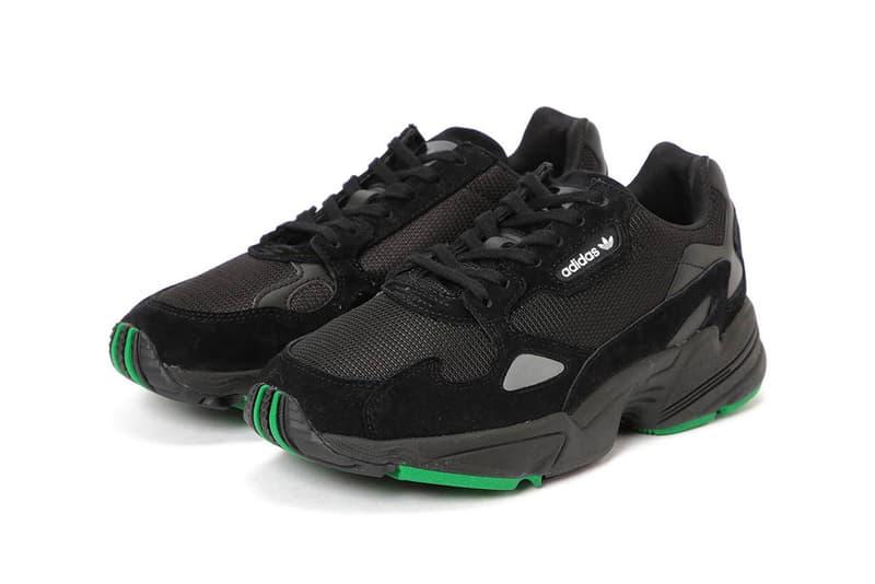 beams adidas falcon black green 2018 september footwear adidas originals sneakers