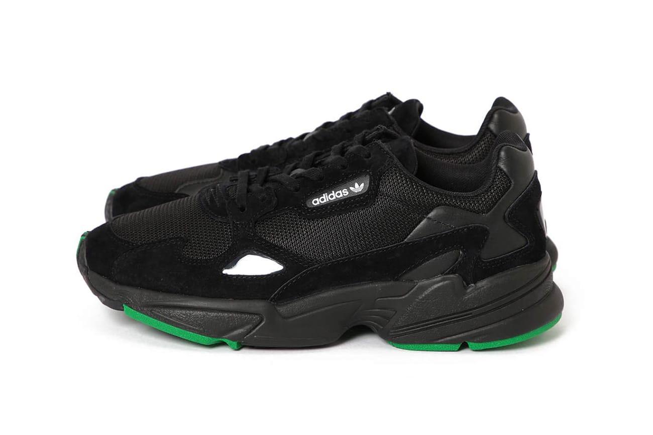 BEAMS x adidas Falcon Black/Green