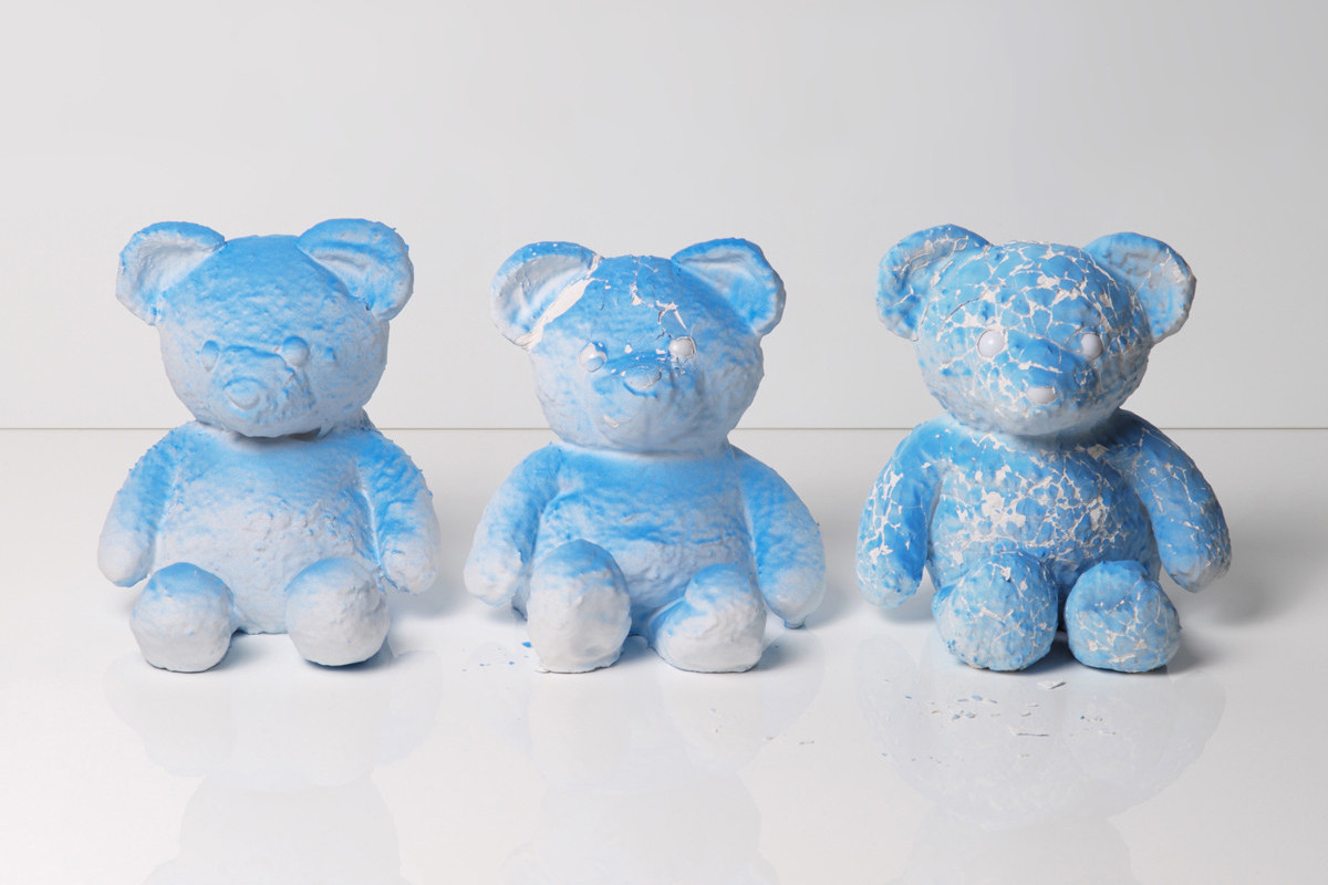 Supreme Mike Kelley Daniel Arsham Cracked Bear Sculpture Steven Harrington Gotcha Collectible Figure Matt McCormick Tappan Collective Patric Hanley Kinfolk Prints Artworks Paintings